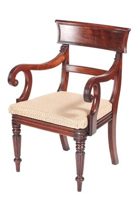 antique mahogany office chair portable chairs walmart william iv desk for sale at pamono 1