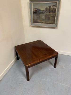 danish rosewood coffee table from henning oddesen 1970s