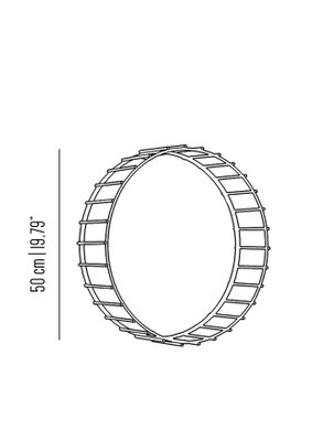 round cage mirror with