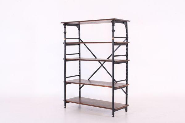 antique industrial steel shelving