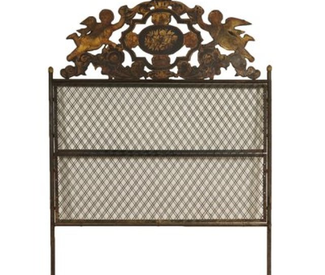 Antique Italian Wrought Iron Headboard Sheet 1