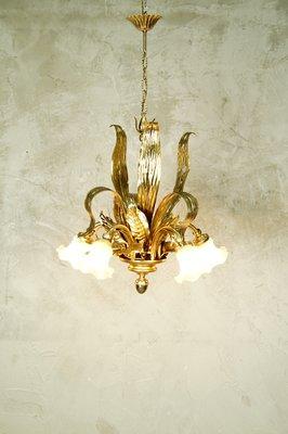 Lampadario marca veca in acciaio cromato e cristallo fumé / veca chandelier lampadario. Lampadario Vintage In Acciaio E Vetro Francia Anni 70 In Vendita Su Pamono