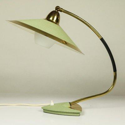 lampe de lecture mid century en laiton verre allemagne 1950s