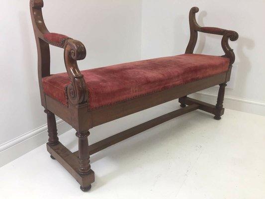 antique victorian red velvet