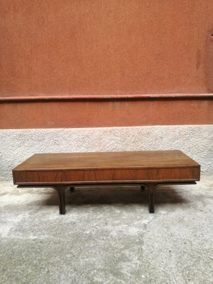mid century italian low coffee table by gianfranco frattini for bernini 1961