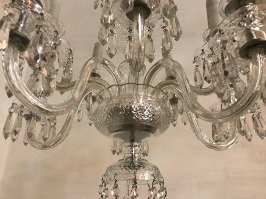 Lampada a sospensione plum in cristallo di boemia 418.90 eur più su lampade. Lampadario A 10 Luci In Cristallo Di Boemia Anni 60 In Vendita Su Pamono