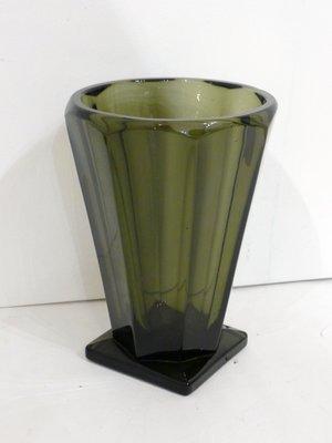 art deco vase aus rauchglas 1920er