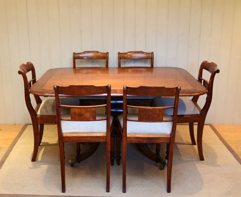 antique mahogany crossbanded dining
