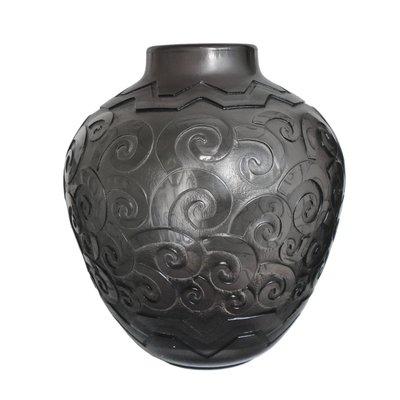 grosse art deco vase von daum 1920er