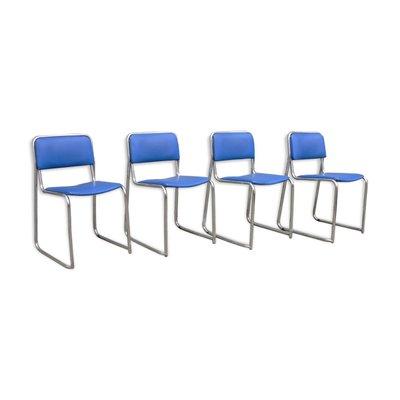 Set quattro sedie curve anni 70. Sedie Vintage In Similpelle Anni 70 Set Di 4 In Vendita Su Pamono