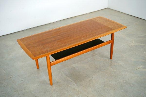 vintage scandinavian teak coffee table 1960s