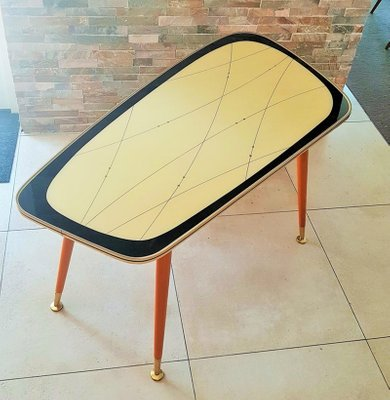 german glass top coffee table 1950s
