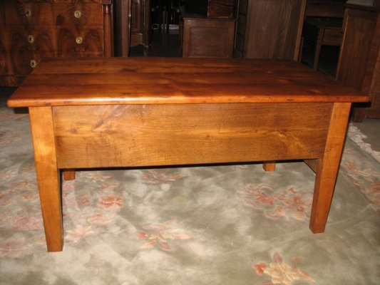 antique oak and cherry wood coffee table