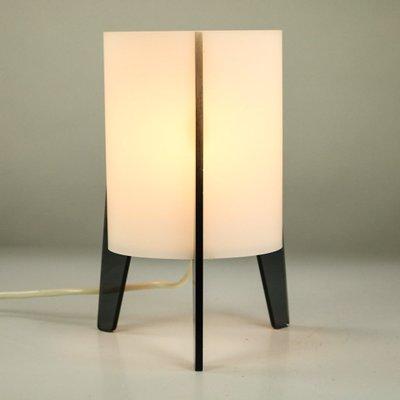 lampe de bureau tripode mid century en acrylique et verre