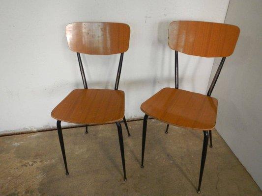 Volete conoscere tutte le sedie di design anni 60? Sedie Da Pranzo In Formica Italia Anni 70 Set Di 2 In Vendita Su Pamono
