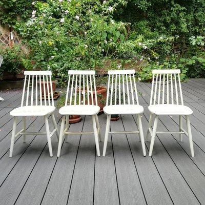 chaises de salle a manger tellus d ikea annees 60 set de 4
