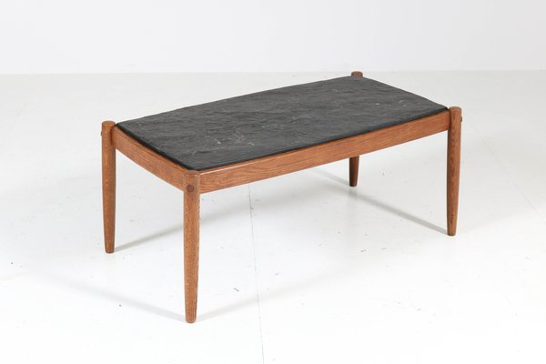 mid century modern oak coffee table 1960s