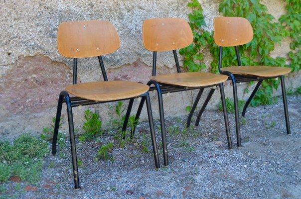 chaise de salle a manger vintage industrielle annees 70