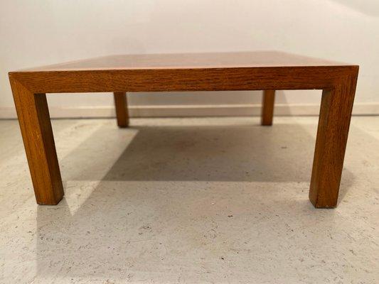 burl wood coffee table by drexel 1950s