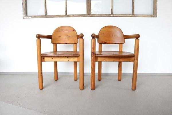 Set 4 sedie pranzo design giotto stoppino produzione kartell imbottitura in pelle nera e metallo cromo. Sedie Da Pranzo In Pino Anni 70 Set Di 2 In Vendita Su Pamono