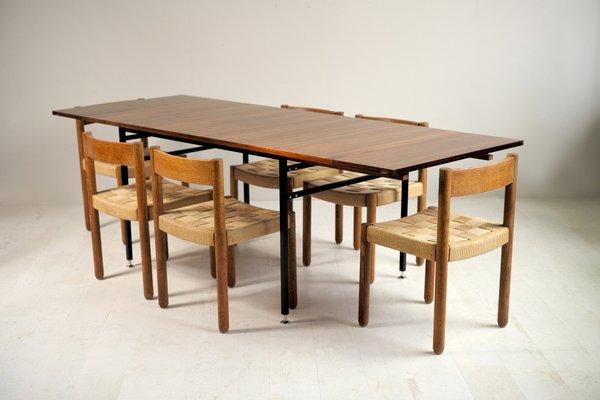 table de salle a manger modele 800 en palissandre par alain richard pour meubles tv france annees 60