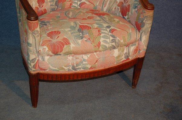 fauteuil bergere art deco en acajou par paul follot 1920s