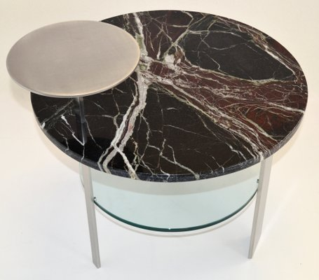 red levanto marble satin stainless steel coffee table by cupioli