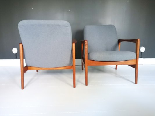Coppia di poltrone anni 60 designer giuseppe rossi albizzate. Swedish Teak Easy Chairs By Alf Svensson For Dux 1960s Set Of 2 For Sale At Pamono