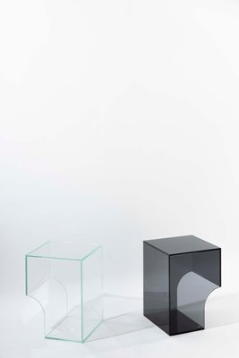 arch 01 2 clear glass side table by barh design