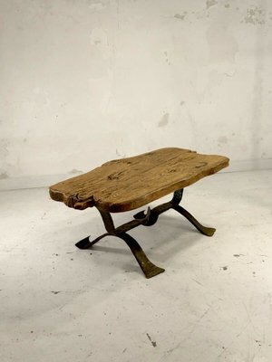 brutalist rustic modern french coffee table 1950s