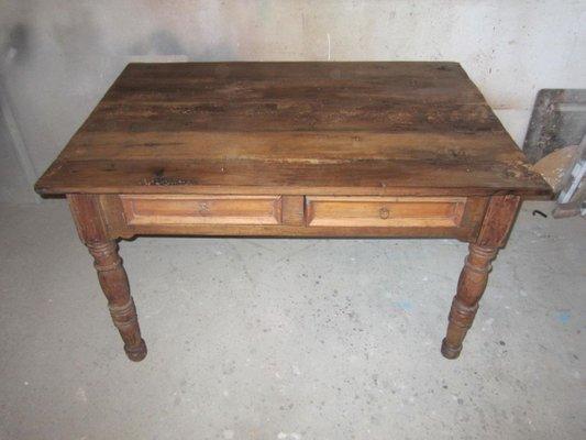 table de salle a manger antique rustique italie 1800s