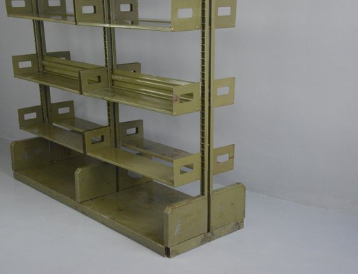 etagere d archive industrielle double face 1940s