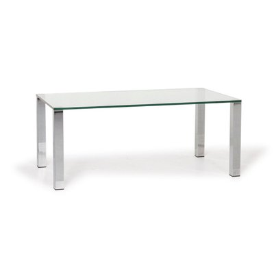 why not 1212 glass silver coffee table from draenert