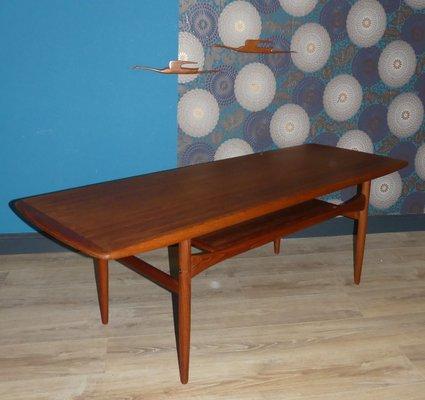 mid century danish teak coffee table from arrebo mobler
