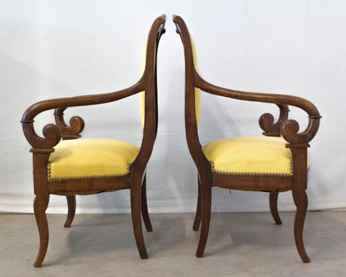 fauteuils louis philippe 19eme siecle france set de 2