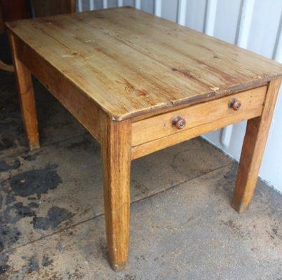 petite table d appoint rectangulaire antique avec tiroirs 1900s