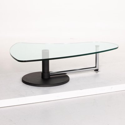 black metal and glass coffee table from rolf benz