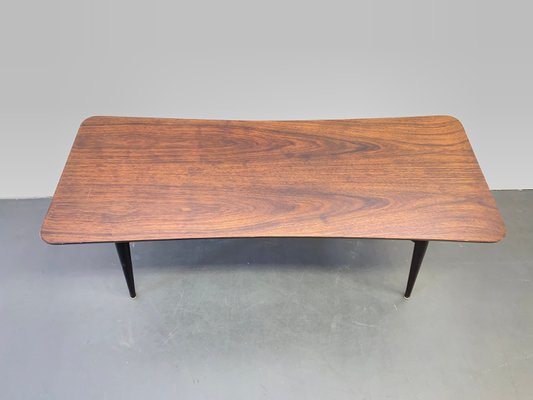 mid century scandinavian black coffee table 1960s