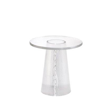 table d appoint haute 2350t en verre transparent par sebastian herkner pour pulpo