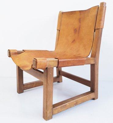chaise pour enfant modele riaza en noyer et en cuir par paco munoz pour darro espagne 1950s