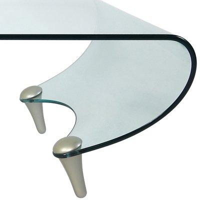 table basse tango postmoderne en verre par fabio di bartolomei pour fiam