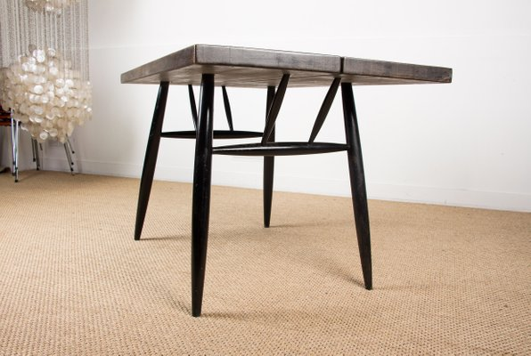 table de salle a manger scandinave en hetre par ilmari tapiovaara pour laukaan puu 1980s