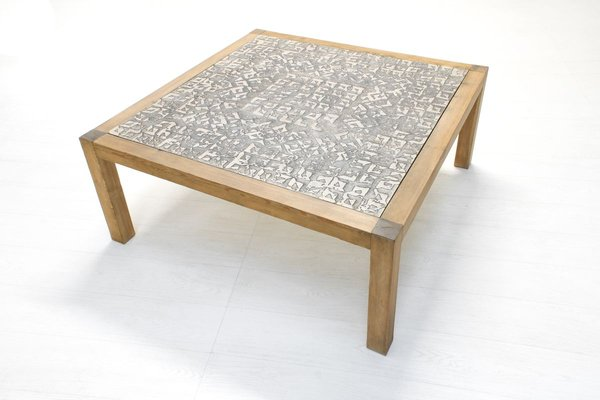 geometric granite coffee table by rik vermeersch 1980s