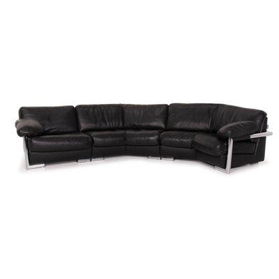 canape d angle en cuir noir de artanova