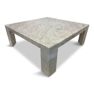 italian white marble coffee table 1970s