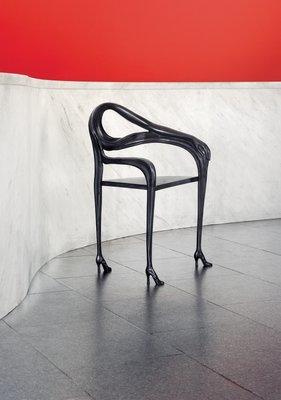 chair design bd acorn lift black label limited edition dali leda armchair sculpture from barcelona 1