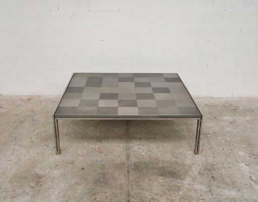 large vintage luar op square coffee table by ross littell for icf de padova 1970s