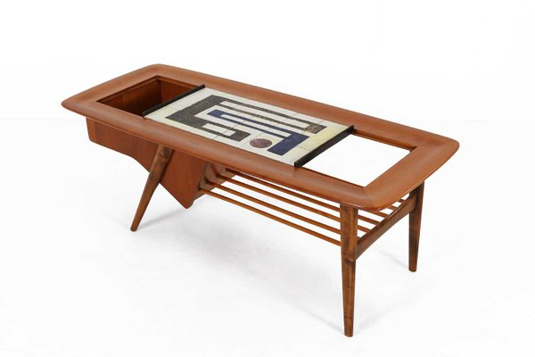 mid century coffee table by alfred hendrickx for belform