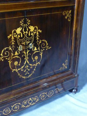 charles x rosewood secretaire