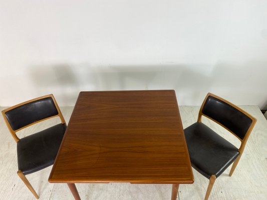 table de salle a manger vintage scandinave extensible en teck 1960s